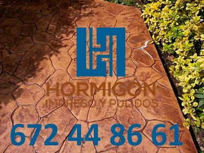 Hormigón impreso San Fernando de Henares